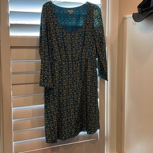 Fossil dress size M, silk, lined